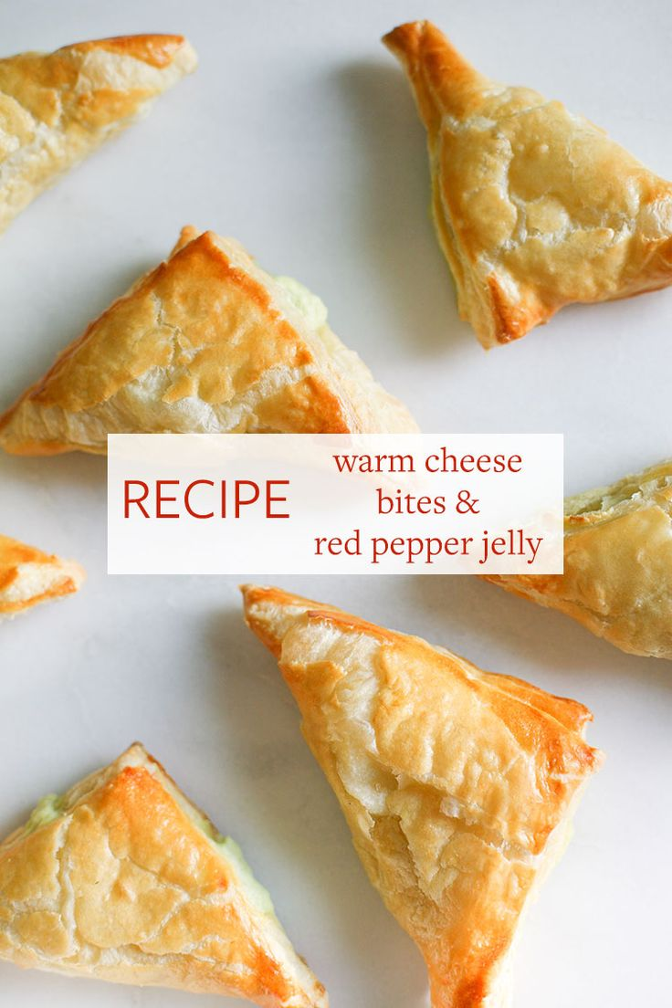 Save this easy appetizer recipe to make Warm Cheese Bites with Red Pepper Jelly to serve at your holiday parties.