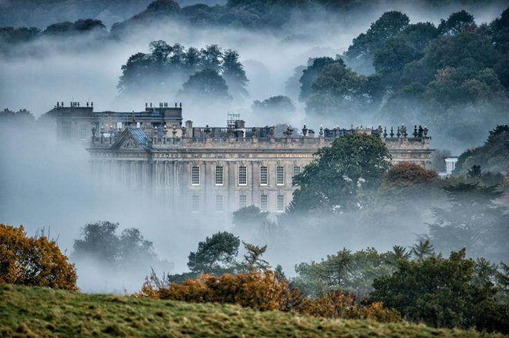 Pemberley .. Mr Darcy's home - Chatsworth House, Edensor, Derbyshire, England, UK.