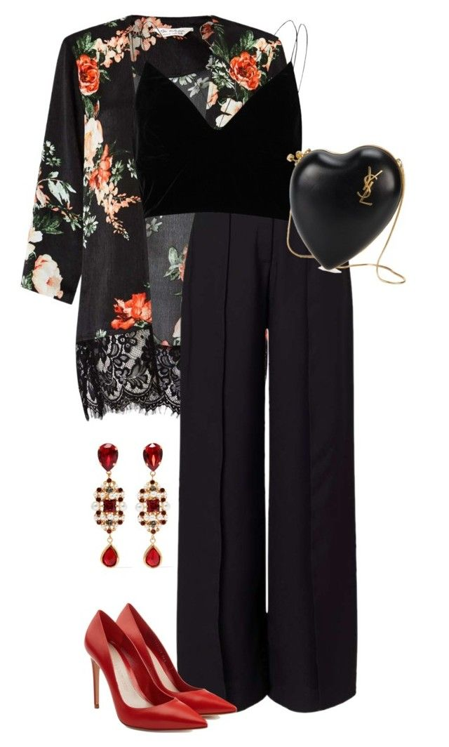 Untitled #2983 by carmelaromio on Polyvore featuring River Island, Miss Selfridge, Alexander McQueen, Yves Saint Laurent and Dolce&Gabbana