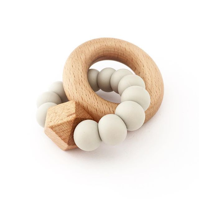 'Hexa' Teether with Beech Ring