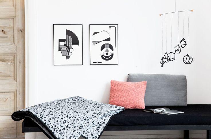 Bedspread, Mobile & Illustrations - Kristina Dam Studio