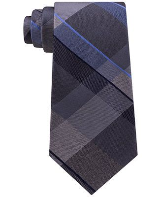 Kenneth Cole Reaction Men's Track Plaid Silk Tie - Ties & Pocket Squares - Men - Macy's