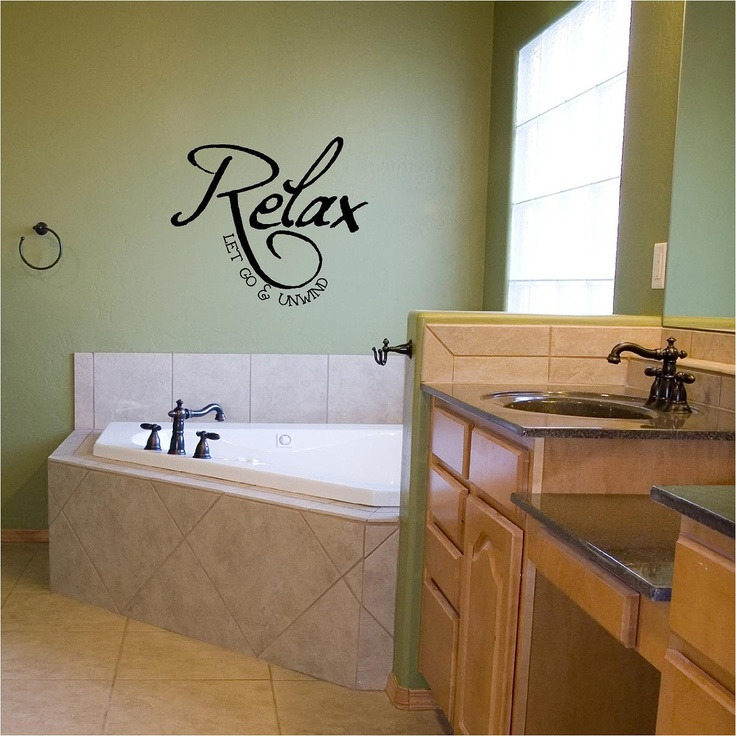 Relax Let Go   Unwind vinyl wall decal by VinylLettering on Etsy. 135 best Writing on the Wall images on Pinterest   Vinyl wall art