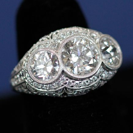 Belle Epoque Diamond Ring, ca. 1915