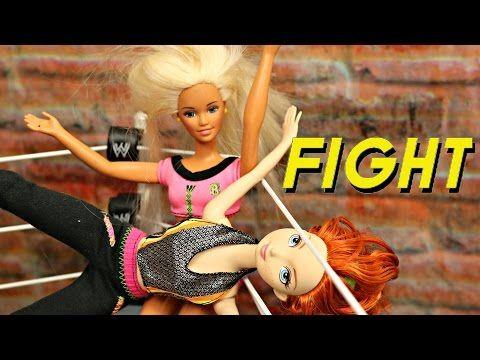 Barbie Goes Crazy Part 2! Barbie vs Merida WWE SmackDown Wrestling Match + Frozen Dolls - YouTube
