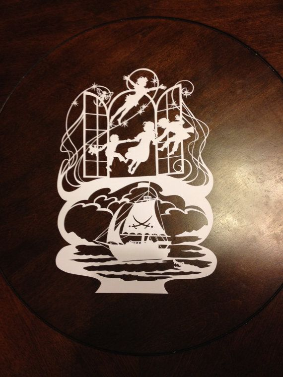 Peter Pan Paper Cut by SketchMyLife on Etsy, $65.00