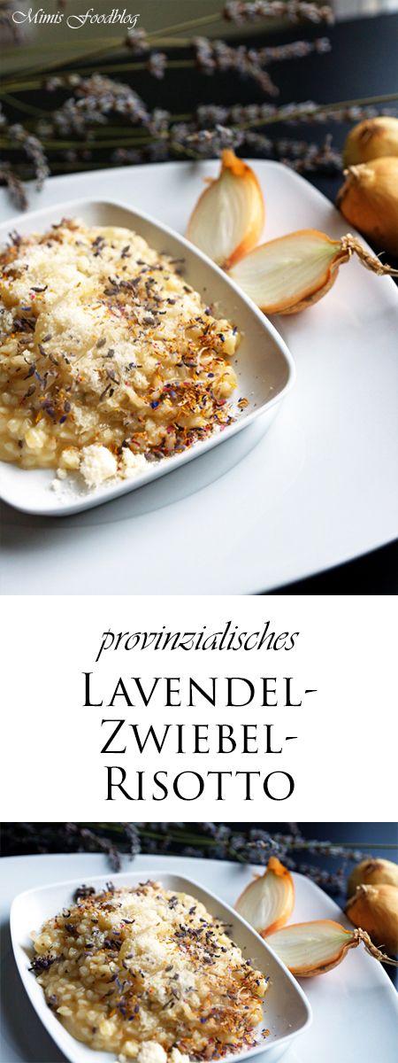 Beim Lavendel-Zwiebel-Risotto findet ihr die fruchtig, blumige Geschmacksnuance des Lavendels kombiniert mit der kräftig, deftigen Zwiebel.
