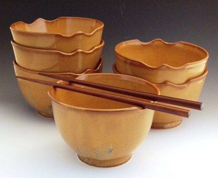 Oriental Noodle/ Rice Bowl. $26.00, via Etsy.