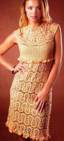 Crochet vestido de renda