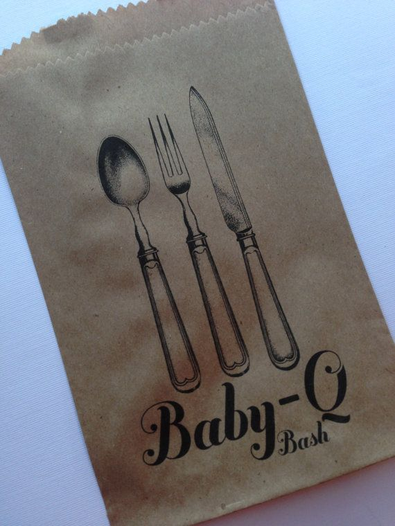 @Stephanie Wortley 25 BabyQ Bash Silverware Pouches Baby Shower by PaperFever on Etsy, $15.00