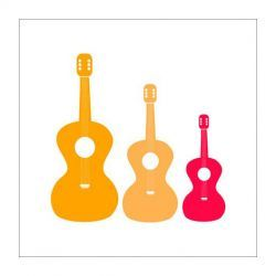 Three Guitars by Halfpence Design Wall Art Collection