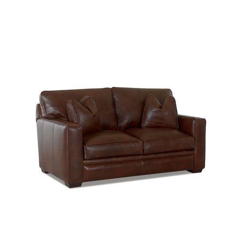 Fulton Walnut Leather Loveseat