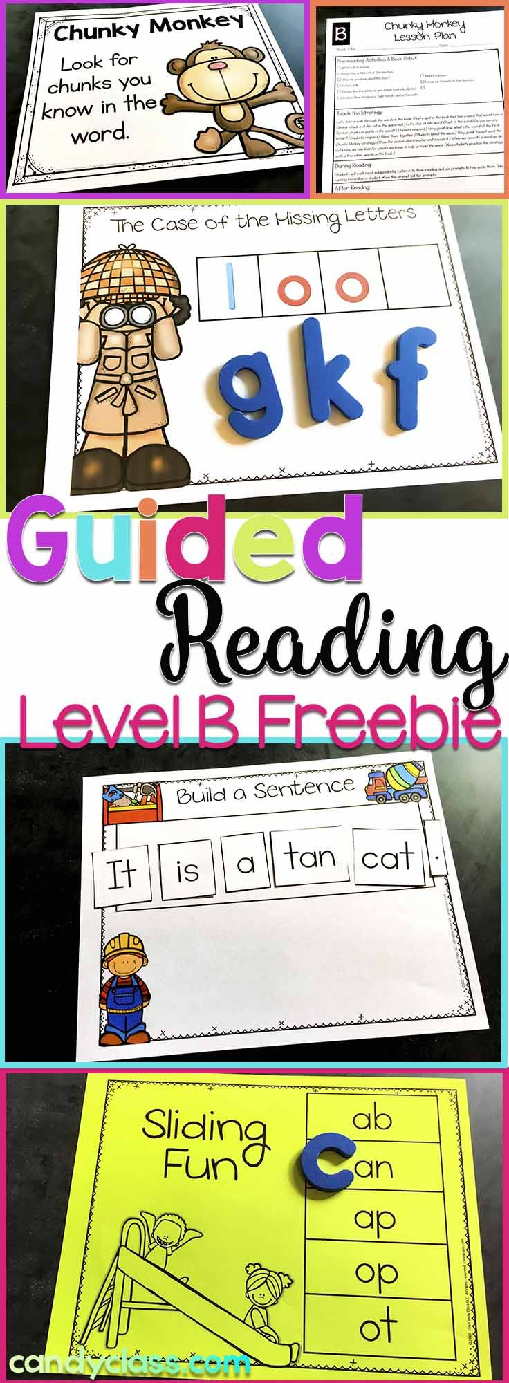 Would you like a free guided reading sampler of level B? Here you go! This freebie includes a lesson plan, reading strategy poster and anchor chart, sight word activity, word work activities, dictated sentence, and assessment.