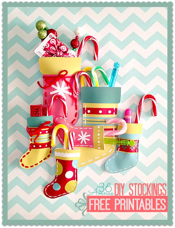 FREE printable Christmas Stockings (with tutorial) / the36thavenue.com #christmas #gifts #printables