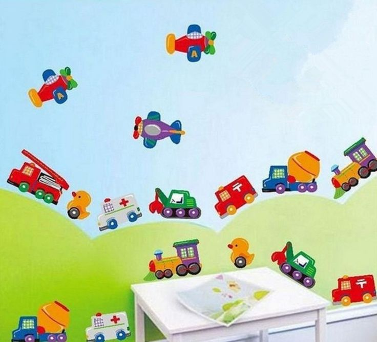 Kid Room Home Removable Wall Sticker Decals Duck Car Train Airplane Wall  Decor Part 88
