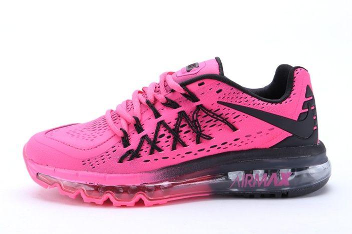 Scarpe Nike Economiche: Nike Air Max 2015 II Scarpe Da Corsa Per Le Donne Nero Rosa Rosso
