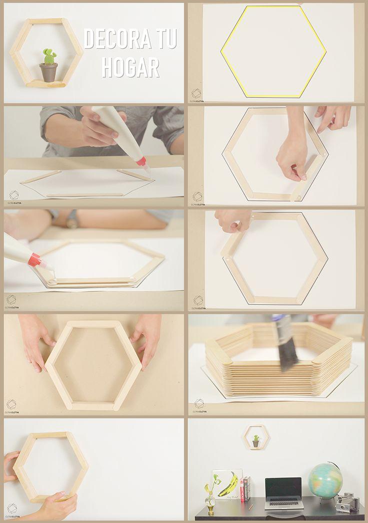 Decora tu hogar con palitos de paleta de madera