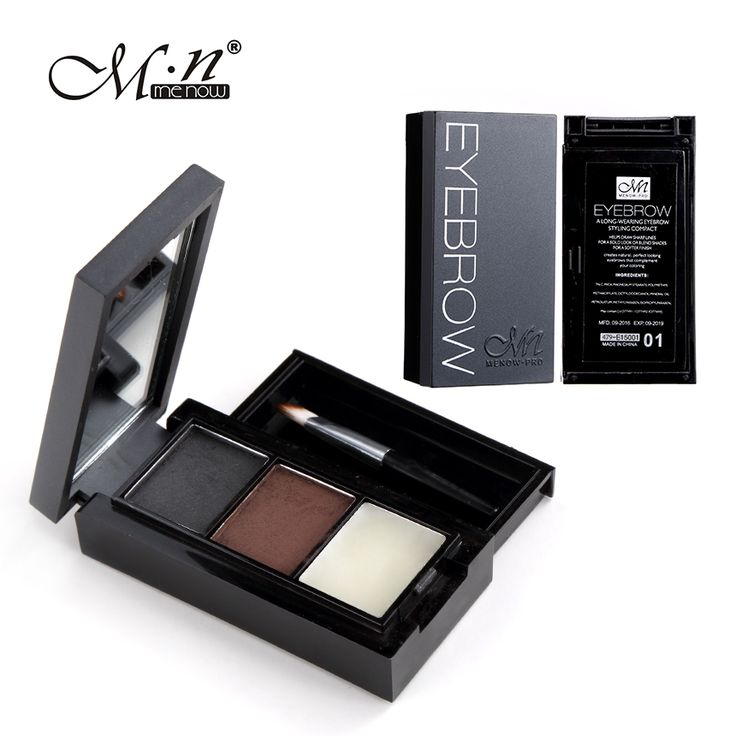3 Colori Sopracciglio Polvere Tavolozza Cosmetic Eye Brow Enhancer Professionale di Trucco Waterproof Ombretto Con La Spazzola Specchio Box