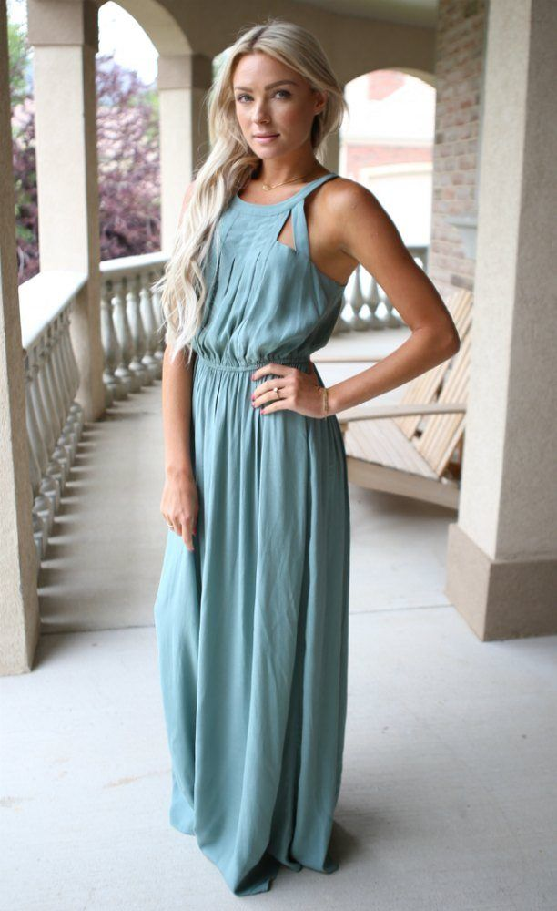 17 Best ideas about Green Maxi Dresses on Pinterest | Dark green ...