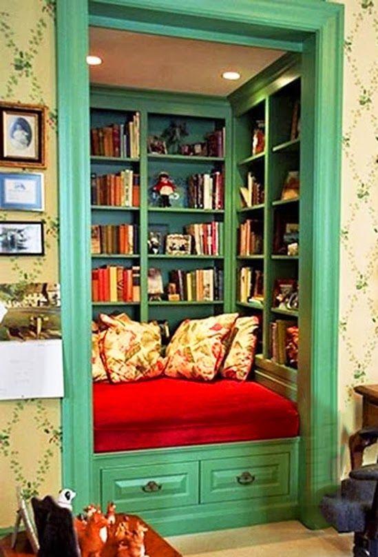 bibliotheque alcove lecture decoration