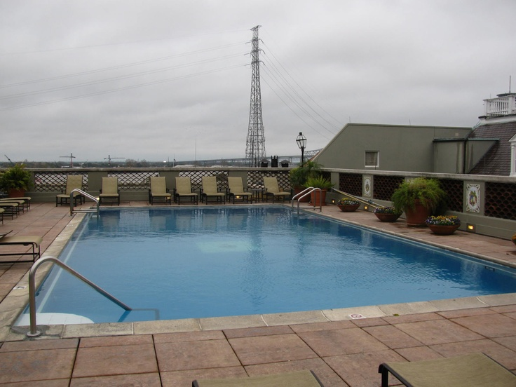 Roof top pool at the omni hotel new orleans french quarter for Pool design new orleans
