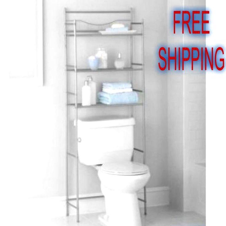 3 Shelves Bath Organizer Space Saver Toilet Storage Bathroom Set Accesory Rack…