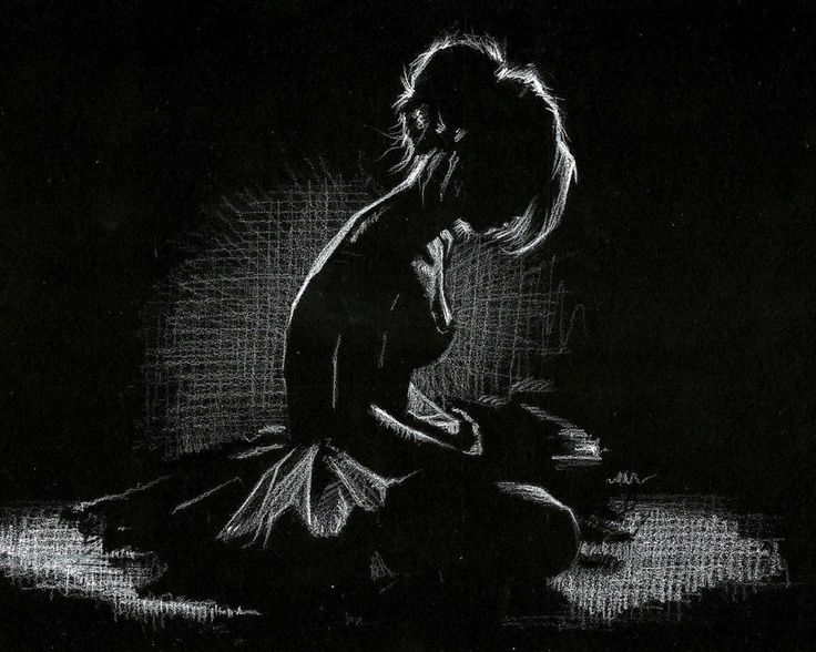 Image result for white drawing on black paper