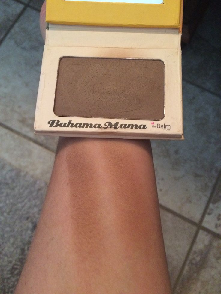 Perfect bronzer for olive skin tone. Bought as a contour but better as an all over bronzer. The Balm Bahama mama. #agoodbronzeishardtofind #testedlotsofbronzers