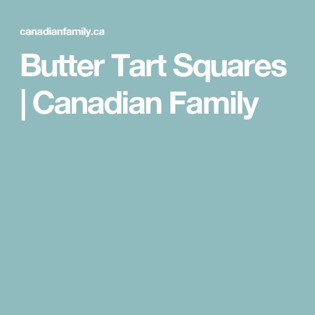 Butter Tart Squares | Canadian Family