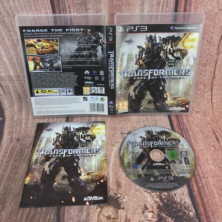 Transformers Dark Of The Moon PS3 video game with manual sony playstation pal