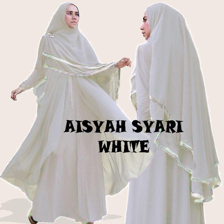 Gamis Syar I Modern Aisyah White