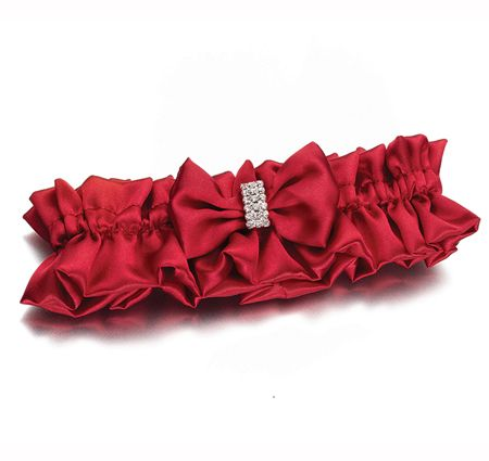 Diamond Red Wedding Garter... Wedding ideas for brides, grooms, parents & planners ... https://itunes.apple.com/us/app/the-gold-wedding-planner/id498112599?ls=1=8 … plus how to organise an entire wedding, without overspending ♥ The Gold Wedding Planner iPhone App ♥