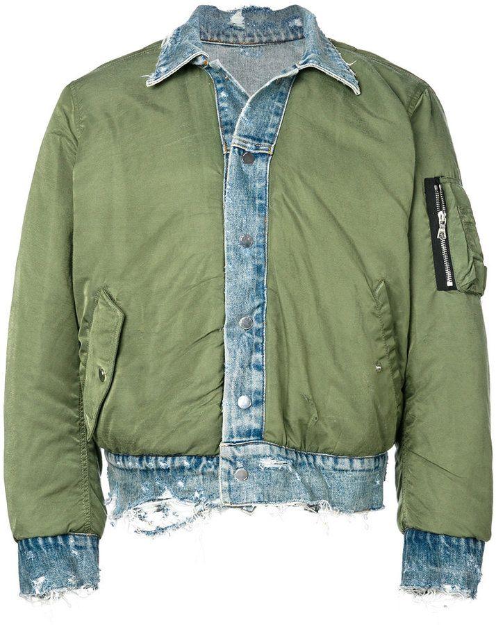 Amiri denim bomber jacket