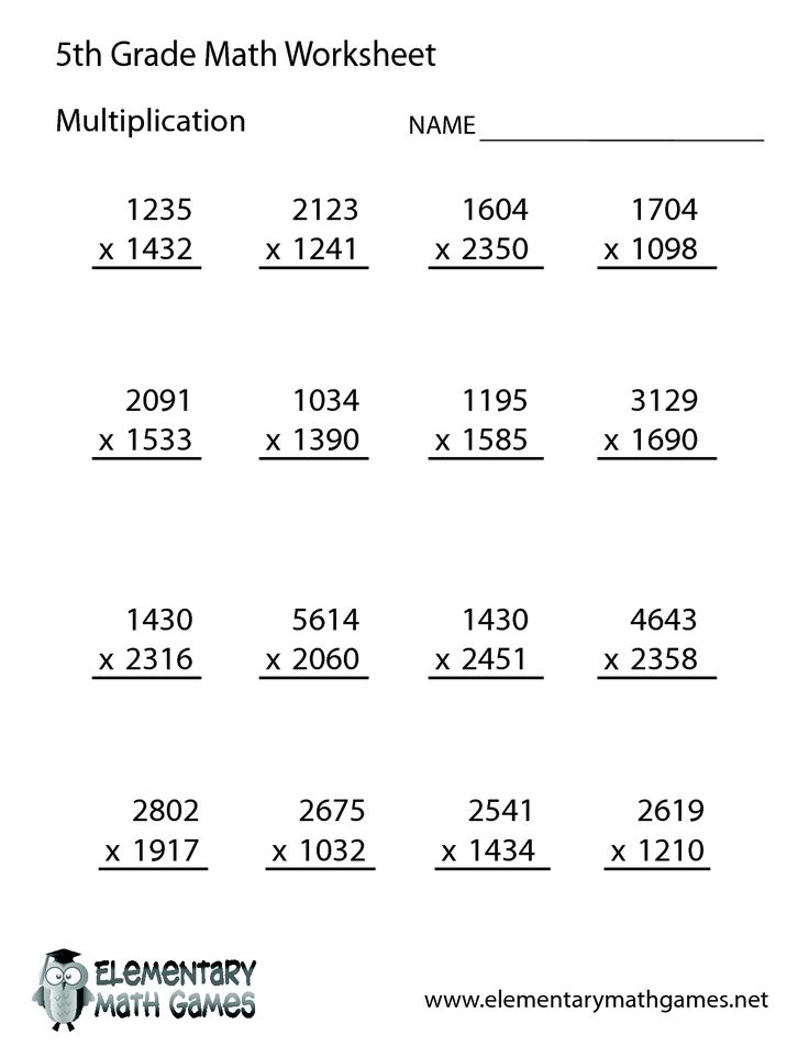 10 best ideas about Printable Multiplication Worksheets on – Maths Worksheets for Class 5