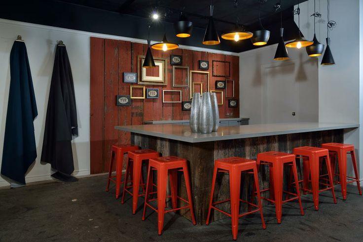 Space shown at the Van Gogh Showroom 2014. #GlenandJamie #Design #stools #art #table #countertop