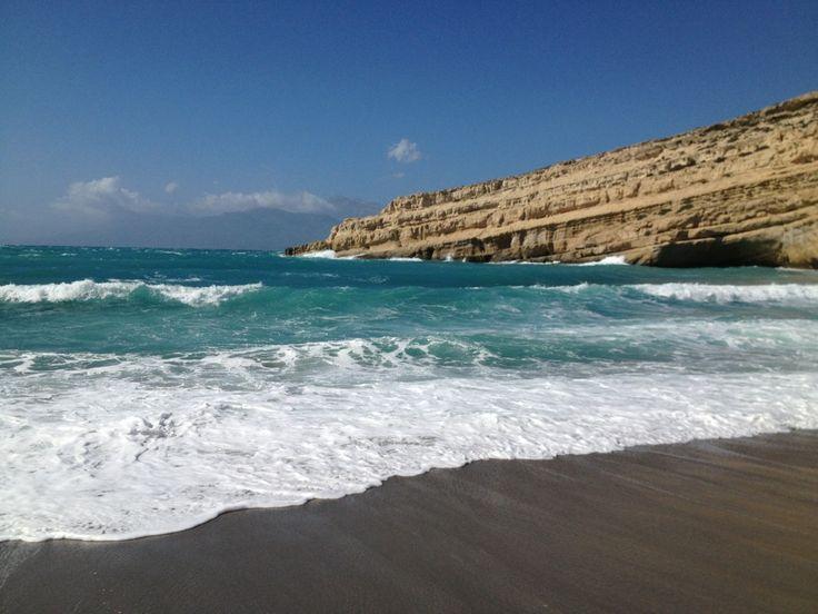 Παραλία Ματάλων (Matala Beach) ve městě Mátala, Ηράκλειο
