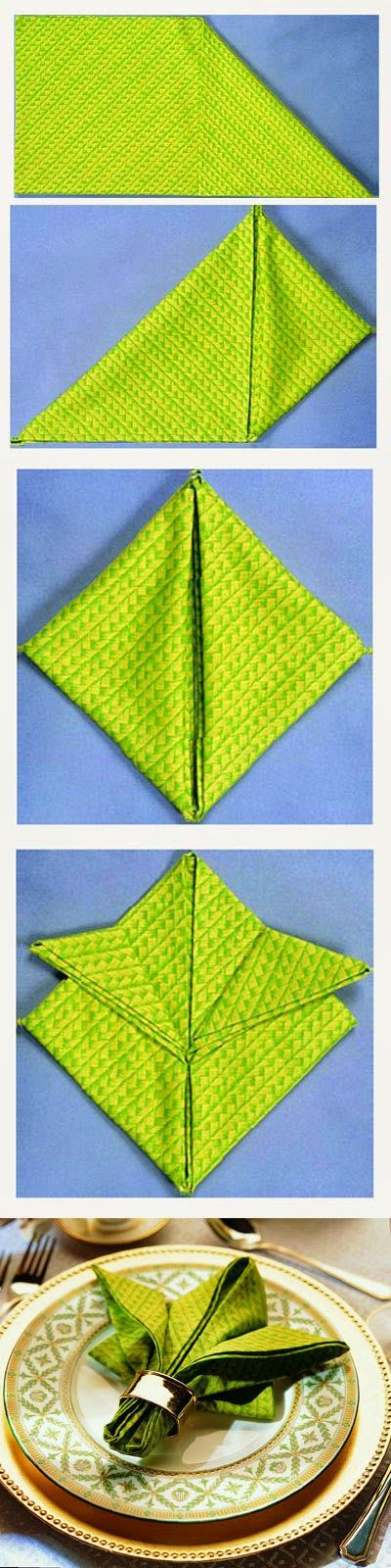 AMIGA DA MODA: COMO DOBRAR GUARDANAPO / HOW TO FOLD NAPKIN