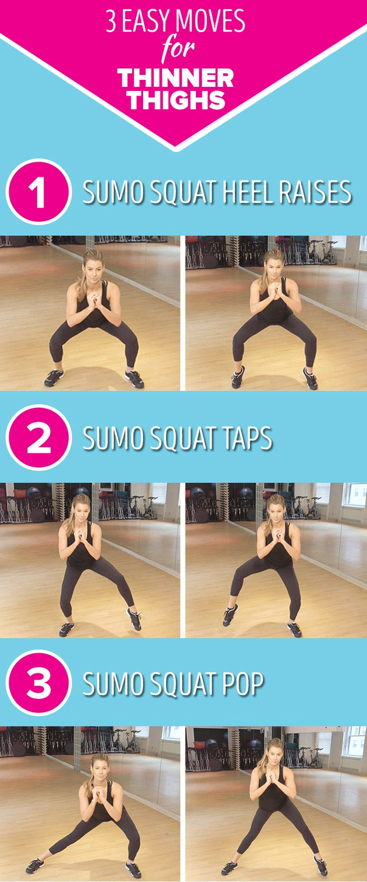 Tone your legs with these three easy exercises. This workout routine will help you get thinner thighs fast.