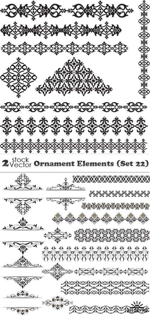 Vectors - Ornament Elements (Set 22)