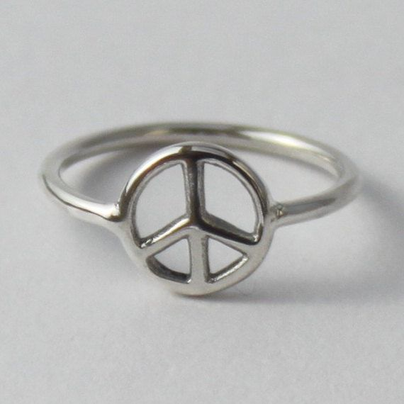 Peace Sign Ring - Fun sterling silver ring. $15.50, via Etsy.