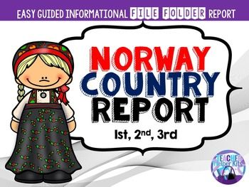 Norway ************************************************************************* Want a fun and easy way for your students to complete informational writing about a country? This Norway Country Report is a guided, file book that allows students to complete information about Norway in an easy and engaging way!