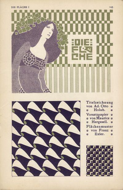 Die Fläche , 1903/4. Published by Felician Baron Myrbach, Josef Hoffmann, Koloman Moser and Alfred Roller.