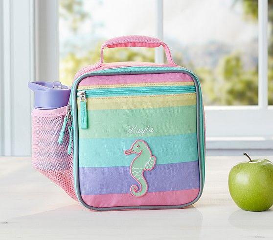 Fairfax Rainbow Multicolor Stripe Lunch Bag