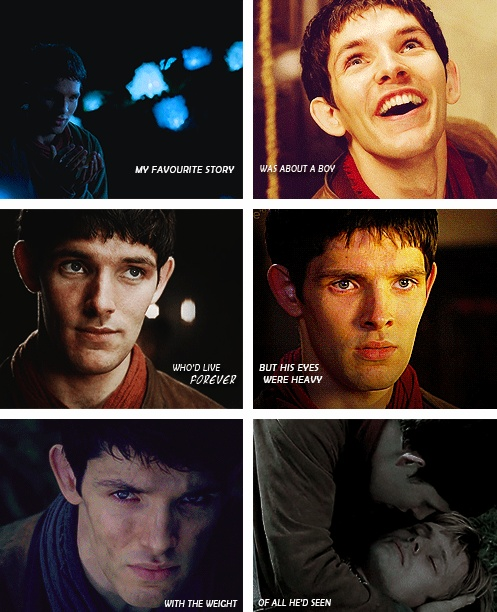"""The opening lines from the Doctor Who episode """"A Town Called Mercy"""" for Merlin. This fits a little too well."""