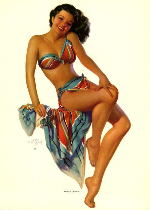 "Zoe Mozert ""Summer Smile"" | Vintage Pin Up Girl Illustration | #PinUp"