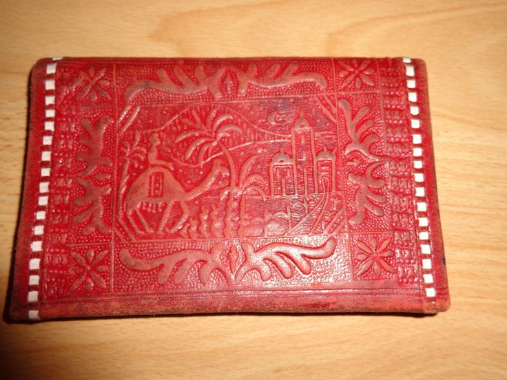 Vintage Portemonnaies - Portmonaie*Vintage*Leder*orient*rot - ein Designerstück von SweetSweetVintage bei DaWanda