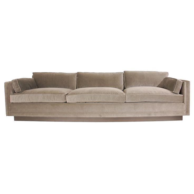 Large and Stately Sofa Designed by William Haines: Fur Sofas, Sofas Design, Sofas Large, Billy Hain, States Sofas, Williams Hain, Studios Couch, Furniture,  Day Beds