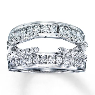 My Wedding Band Diamond Enhancer Ring 1 Ct Tw Round Cut White Gold Yup I Love It And Cant Wait To Wear