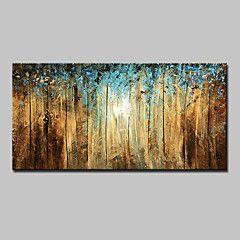 Maalattu+Abstrakti+Maisema+Kukkakuvio/Kasvitiede+Abstraktit+maisemakuvat+Vaakasuora,Moderni+1+paneeli+Kanvas+Hang-Painted+öljymaalaus+For++–+EUR+€+146.98