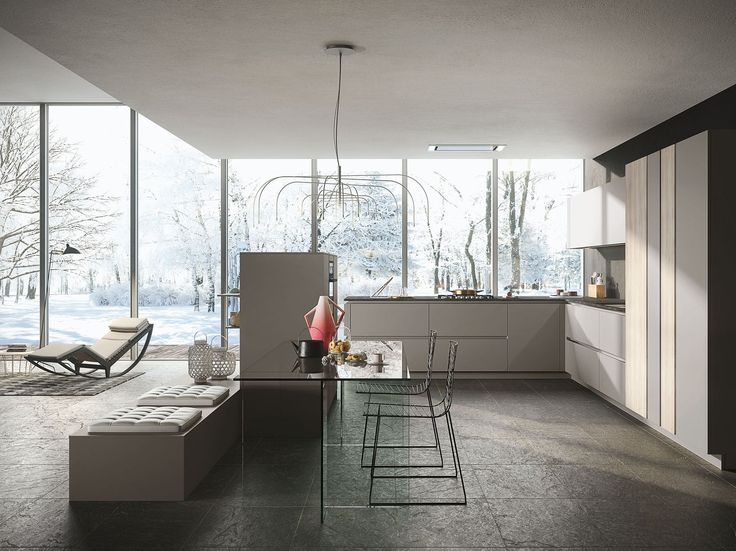 LOOK Kitchen with peninsula by Snaidero design Michele Marcon